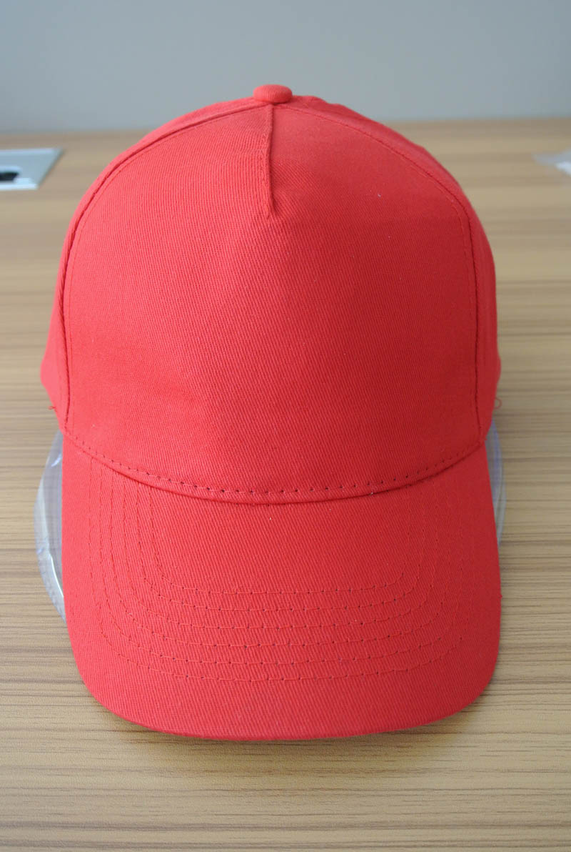 cotton material 5 panel basic cap and hat