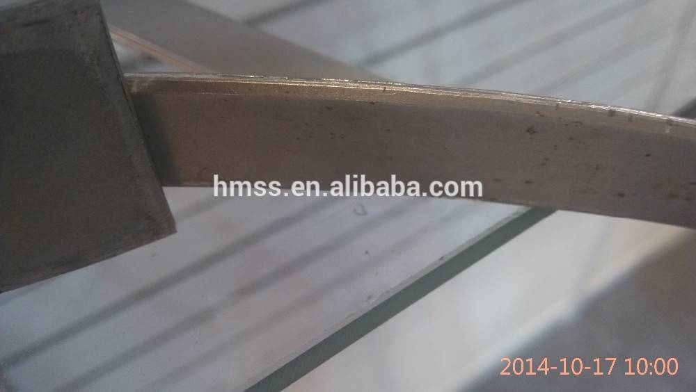 stainless steel strip chamered angle edge