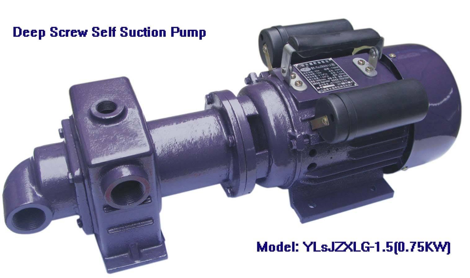 Electric Deep Screw Self Suction Pump-YLsJZXLG-1.5, 750W