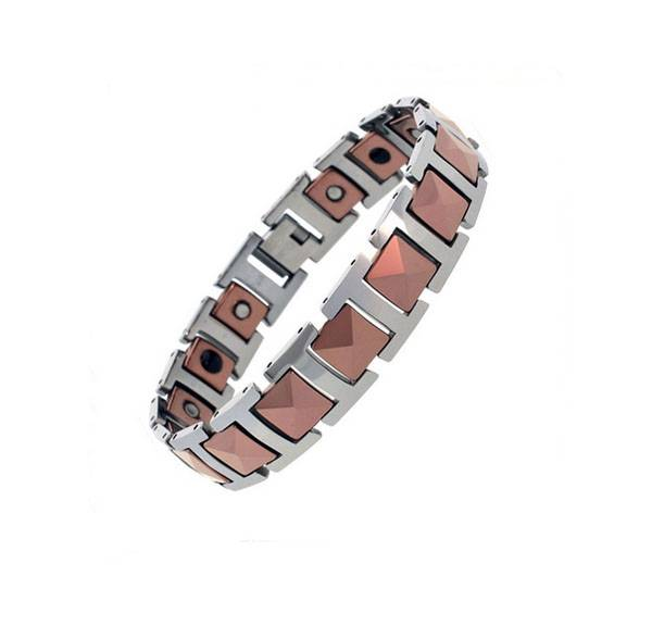 2015 fashion men magnetic jewelry gift wholesale stainless steel negative ion bracelet with germaniu