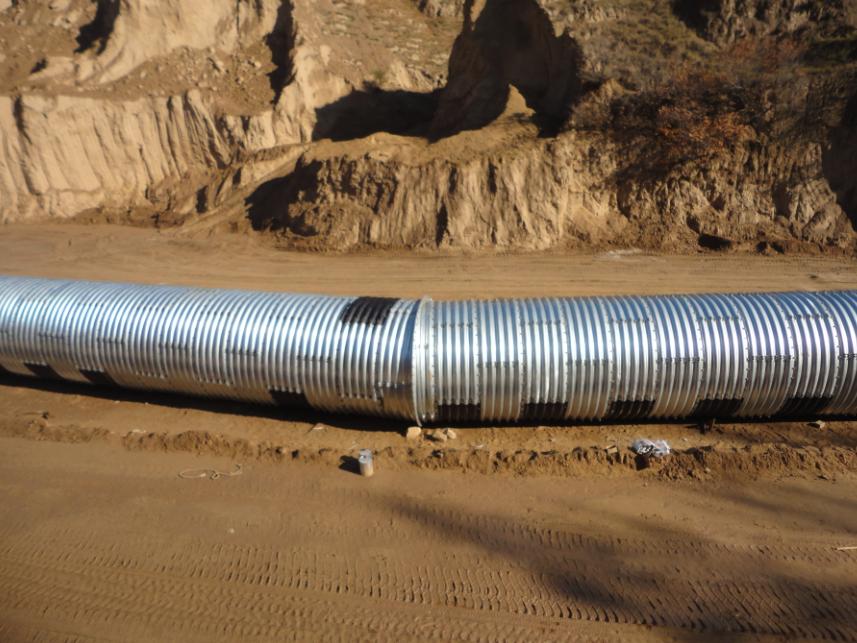 Anticorrosive corrugated steel pipe corrugated metal culvert pipe