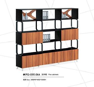 Office wooden file bookcase storage bookshelf(PG-15H-24A)