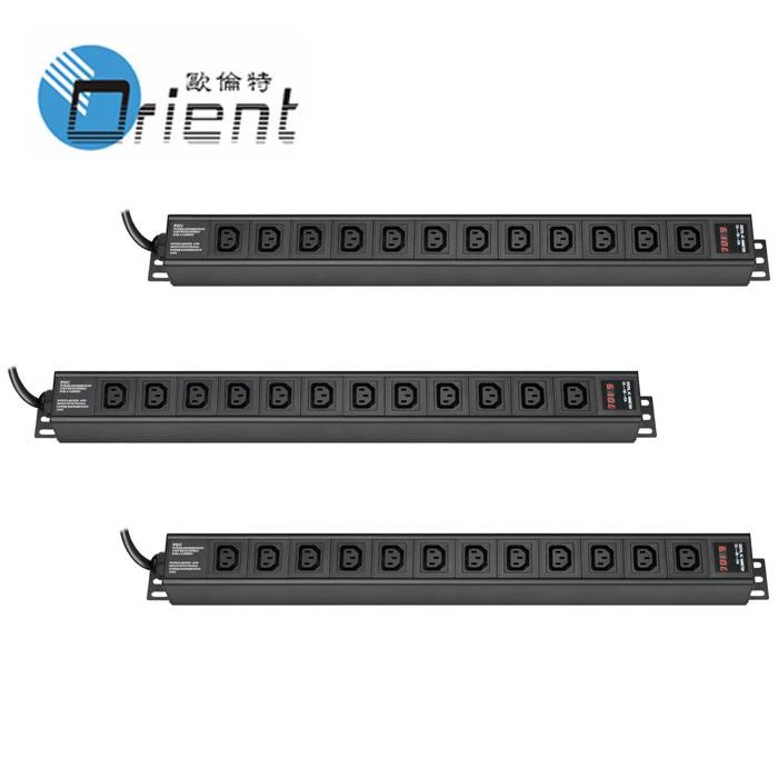C13 PDU 12 outlet with current and voltage display