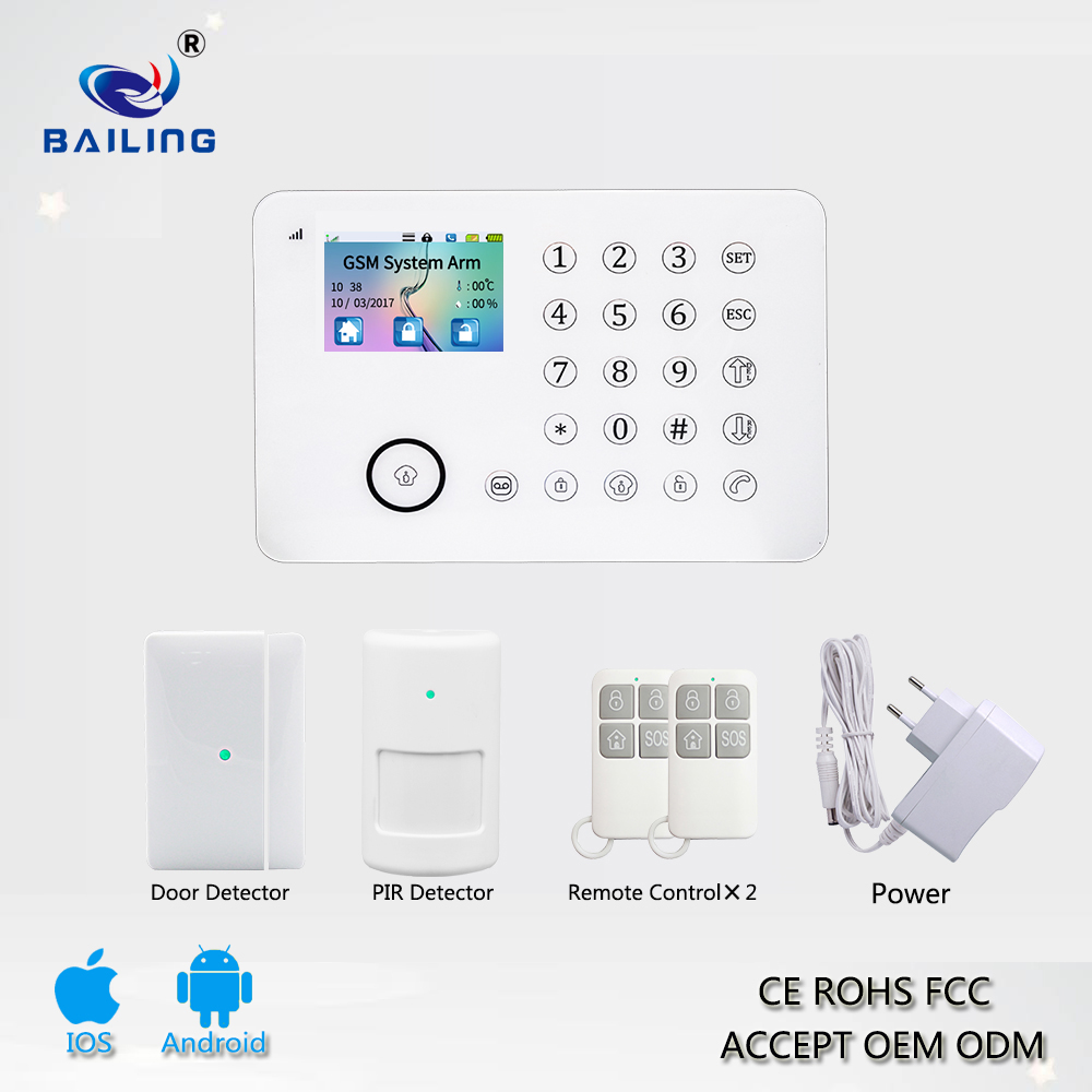 touch screen GSM&PSTN TFT Alarm system E911