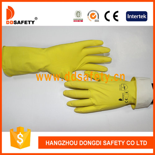 Yellow latex glove-DHL303
