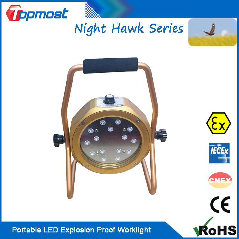 Dimmable 0-30Watt Portable LED Work Light Anti-explosive