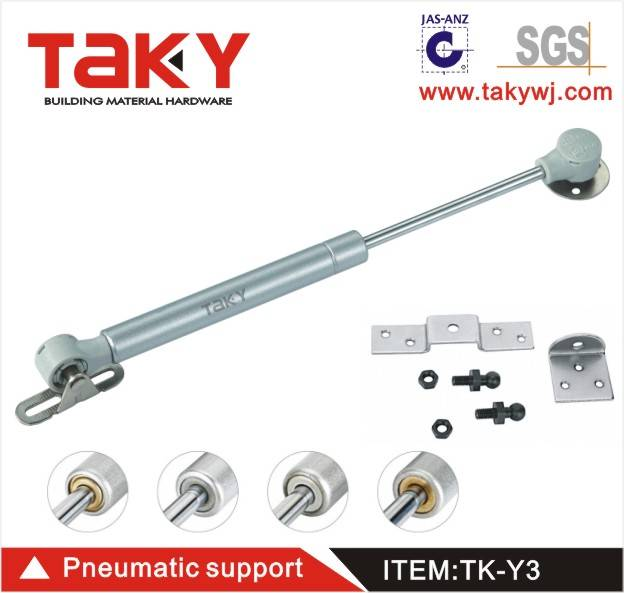 TK-Y3 gas lift spring rubber head cabinet support gas spring