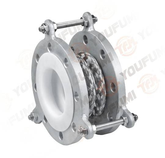 SS304 Shell lined PTFE Expansion Joint Compensator