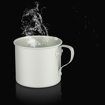 Lightweight 8cm aluminum mug 300ml camping mug