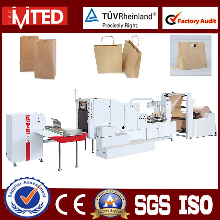 RZFD-450 Big Size Flat Bottom Paper Carry Bag Making Machine