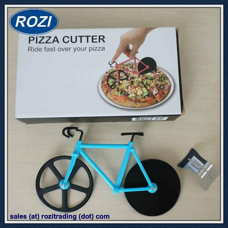 Pizza Cutter Bike Creative Kitchen Tools Utensils Cooking Knife