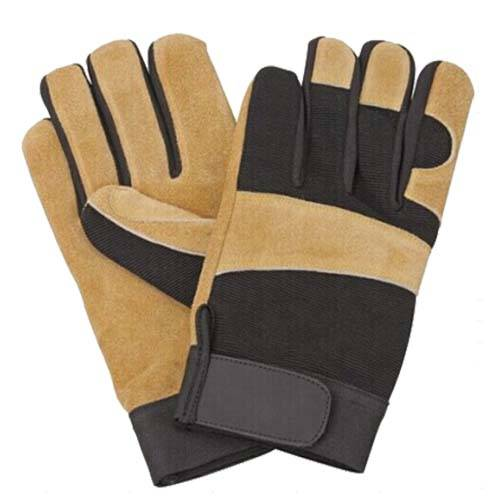 Split leather working gloves.