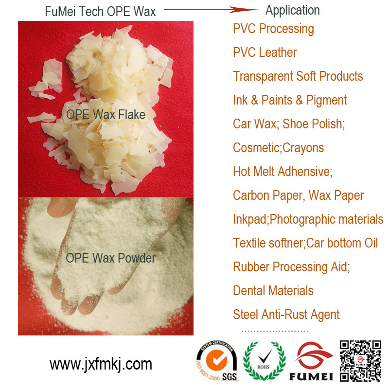 Internal and external lubricants oxidized polyethylene wax/OPE WAX