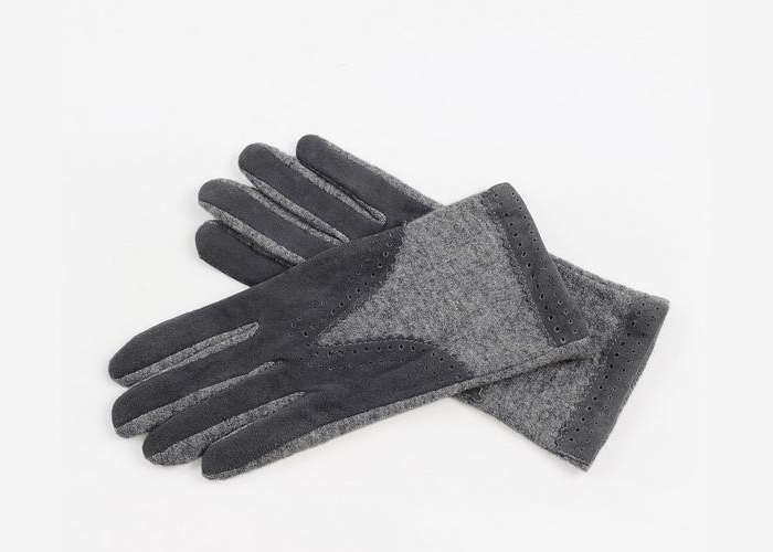 grey black color women gloves