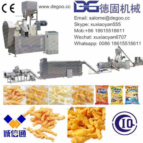 Cheetos/Kurkure/Nik Naks/Corn Curls Snack Food Extruder Machine Production Line