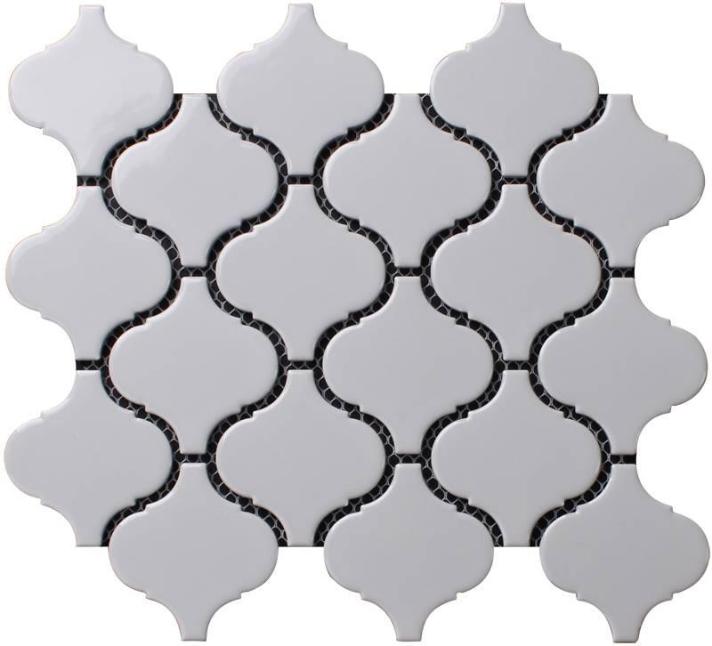 Beveled Arabesque Glazed Ceramic Wall Tile