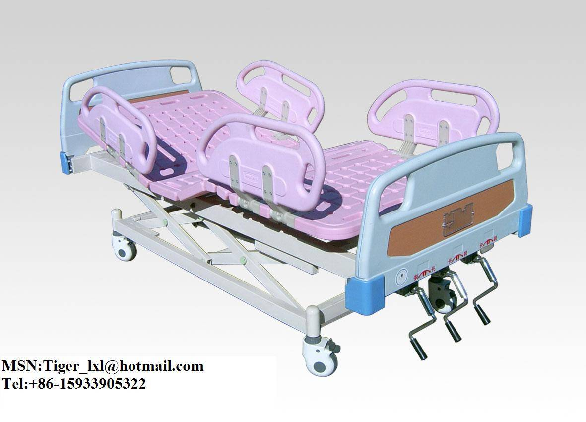 Movable Three Shakes Bed with ABS Bed Head