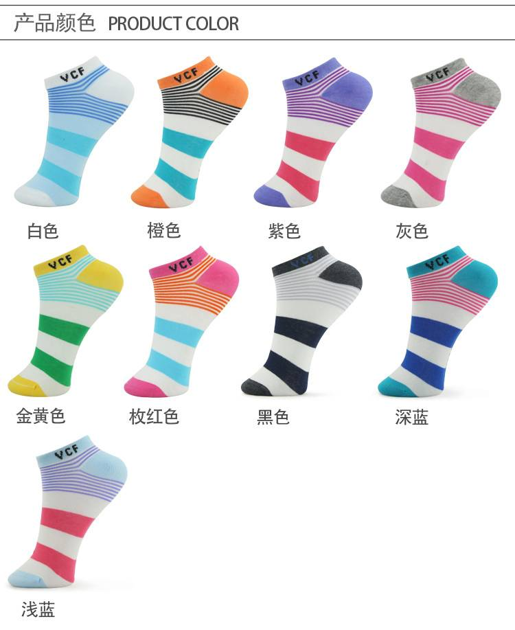Candy strip socks--colorful series,ankle socks( invisible socks)