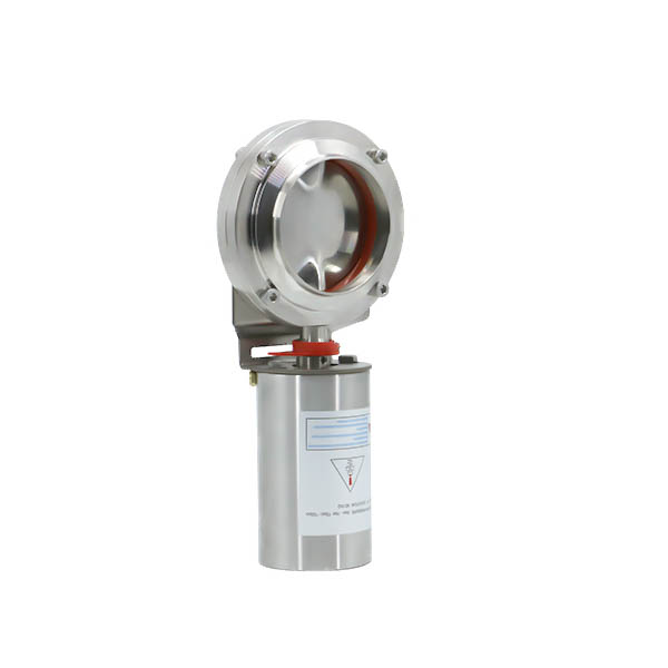 DN25 Stainless Steel Pneumatic Weld Butterfly Valve with SS304 Grade