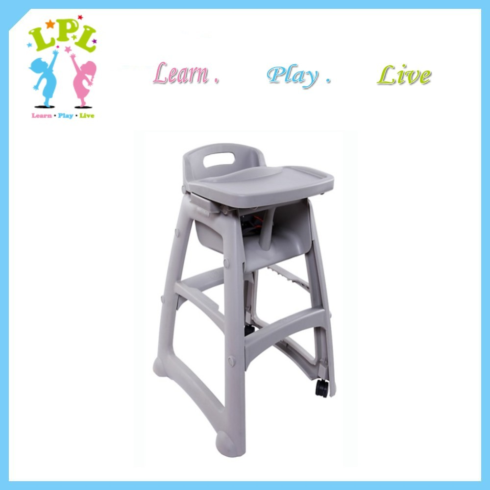 Eco friendly pp plastic high quality hotel KFC popular baby chair for restaurant