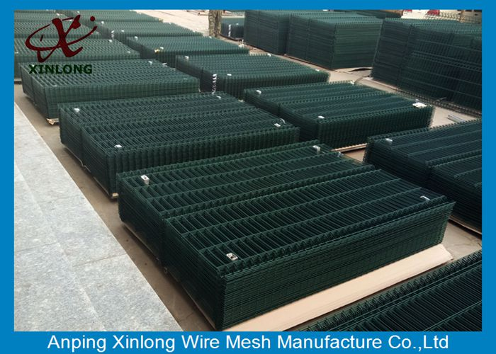 Private Grounds Dark Green Powders Sprayed Coating 3D Wire Mesh Fence