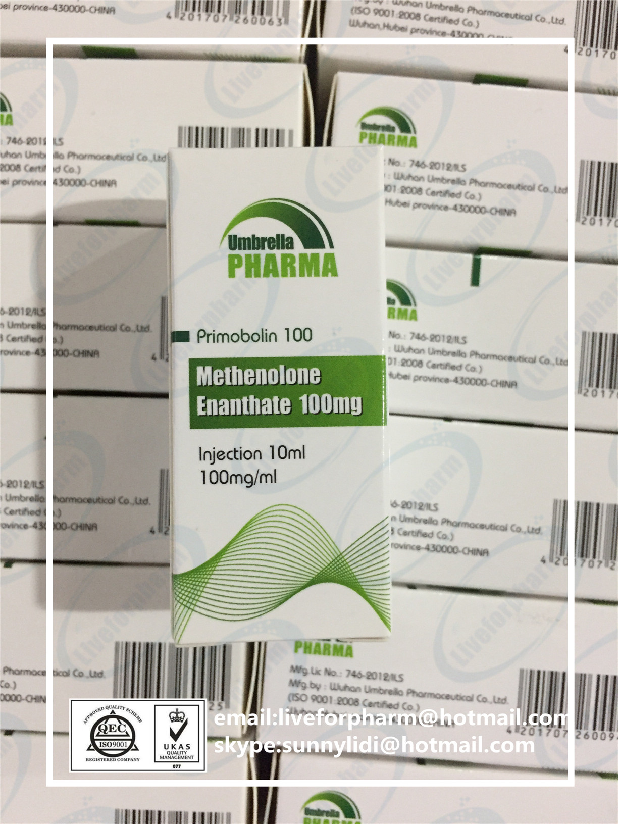 10ml OIL Injection Primobolan Methenolone Enanthate 100mg/ml 98.8% purity above