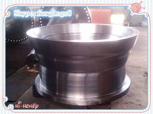 ASTM A388 EN10228 Tower Drum Flange Forged Steel Roller For Metallurgical Equipment