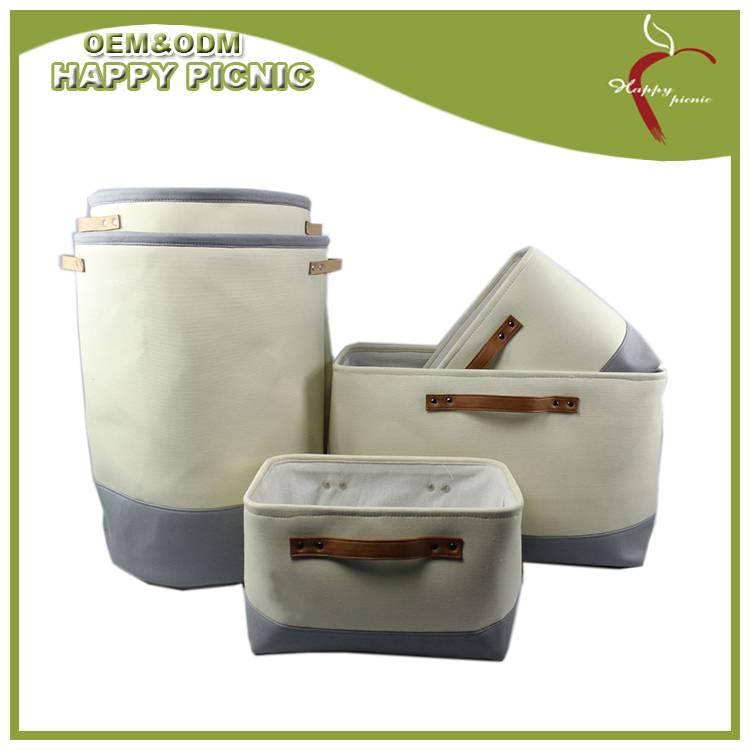 Canvas storage bag set