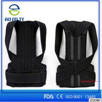2016 Aofeite Custom Good Quality Breathable Correct Posture Back Brace for Back Support