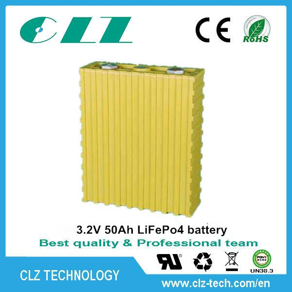 High performance 3.2v 50Ah lifepo4 battery for electric forklift/solar energy system