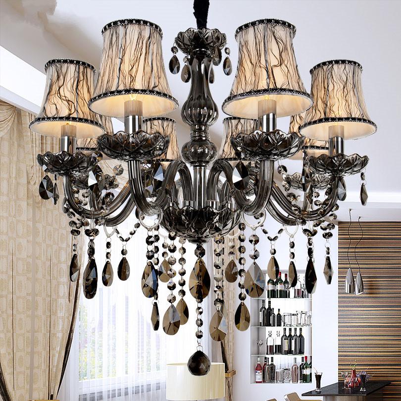New Modern led crystal chandeliers for kitchen room Livingroom Bedroom Gray Color K9 crystal lustres