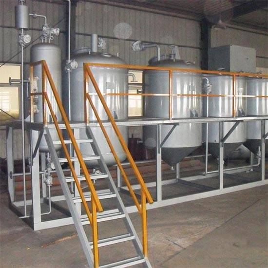 3TPD Oil refining plant sunflower oil refinery machine