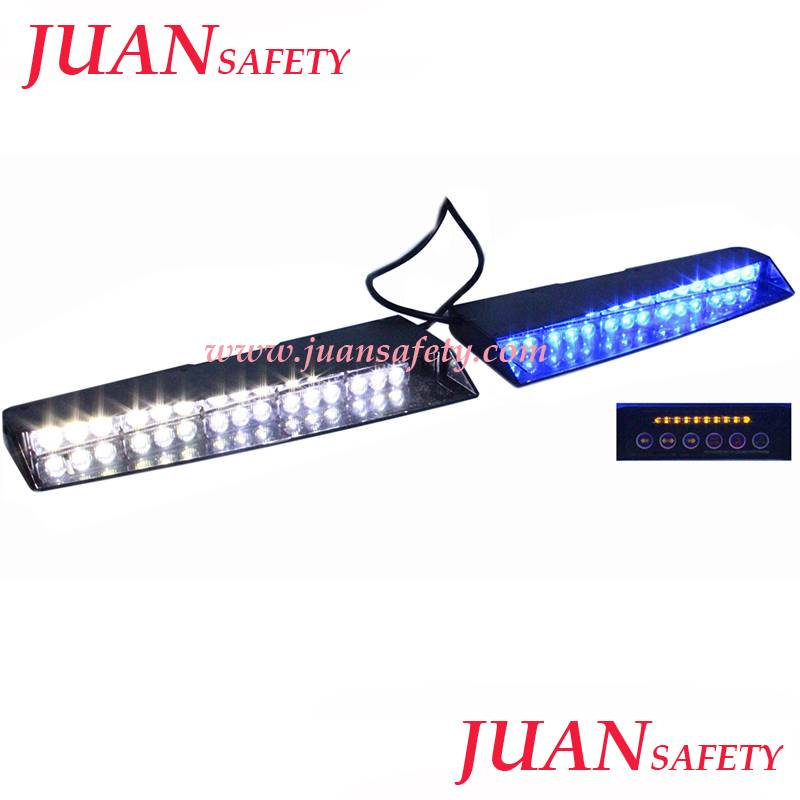 LED Strobe/Dash Emergency Visor traffic warning light Bar Windshield Mount LED299A