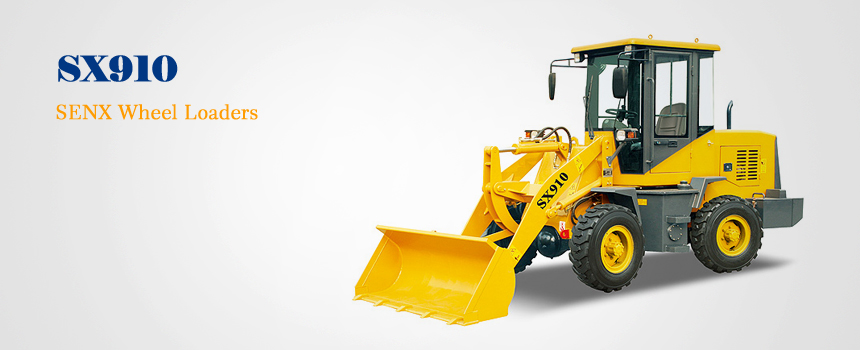China mini wheel loader SX910 with SENX brand