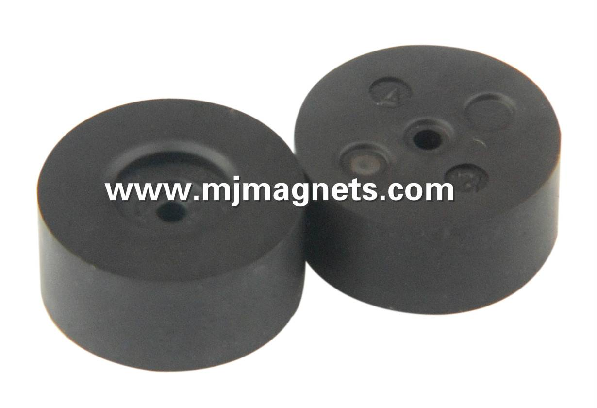 plastic injection bonded sensor magnet for actuator