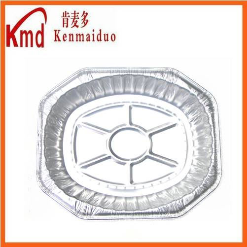 HOT SALE disposable and recyclable aluminum foil dinner tray 200pcs/ctn