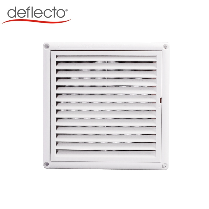 Plastic Louver Vent with Removable Mesh White PP Dryer Vent Cover