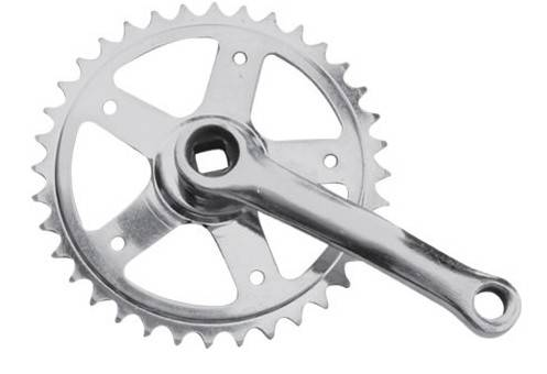 Chainwheel and Crank for Bicycle, Steel Material, 89, 102, 114, 127, 165mm Crank, 24, 28, 32T Teeth