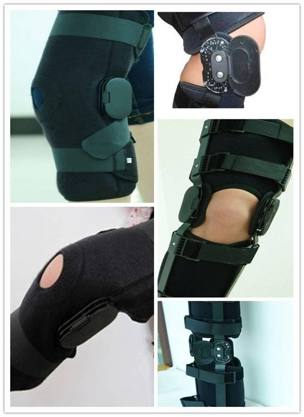 Angled Metal Knee Support Brace
