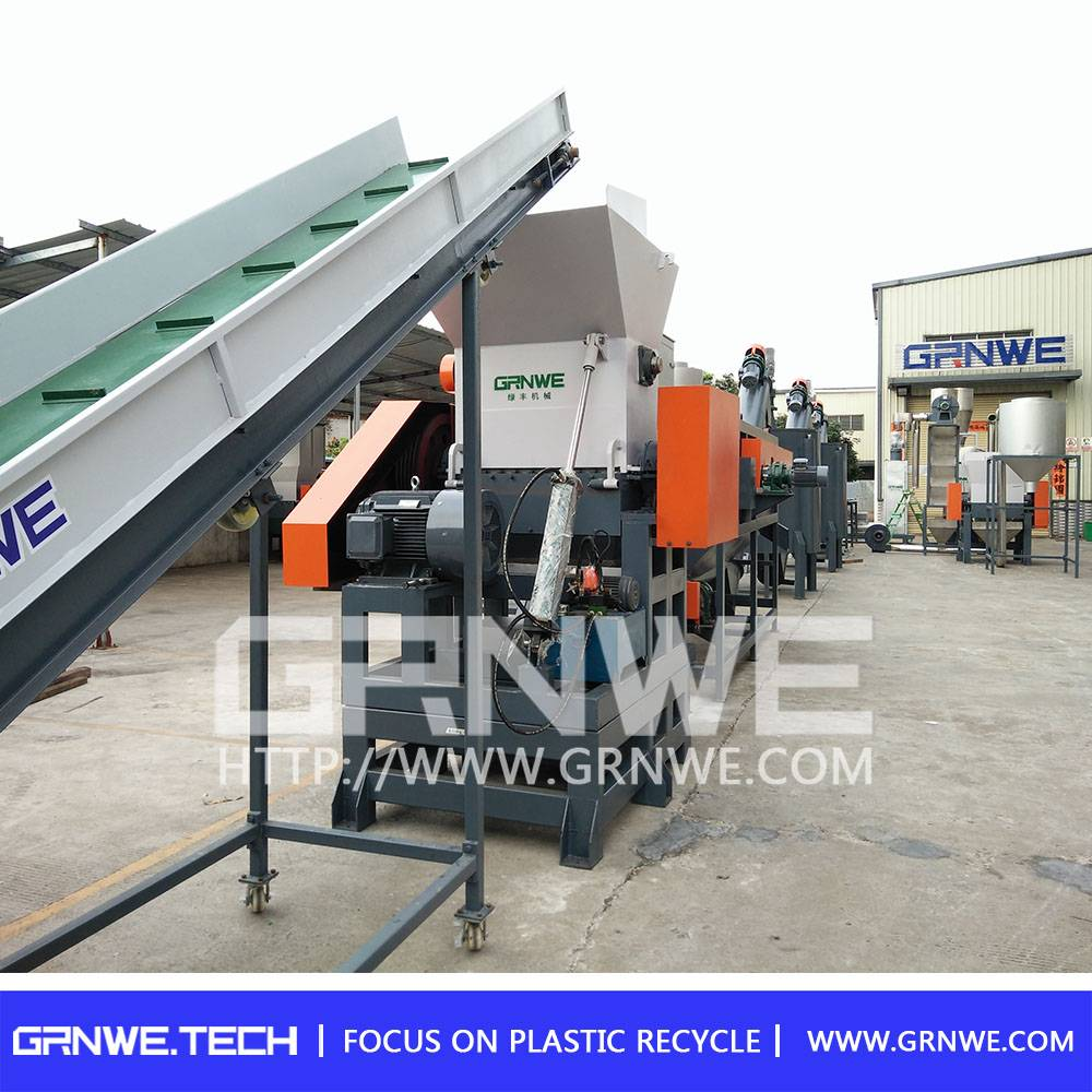 500-2000kg Capacity and Single Shaft Design industrial plastic shredder