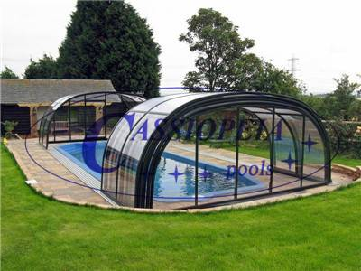 retractable swimming pool enclosure