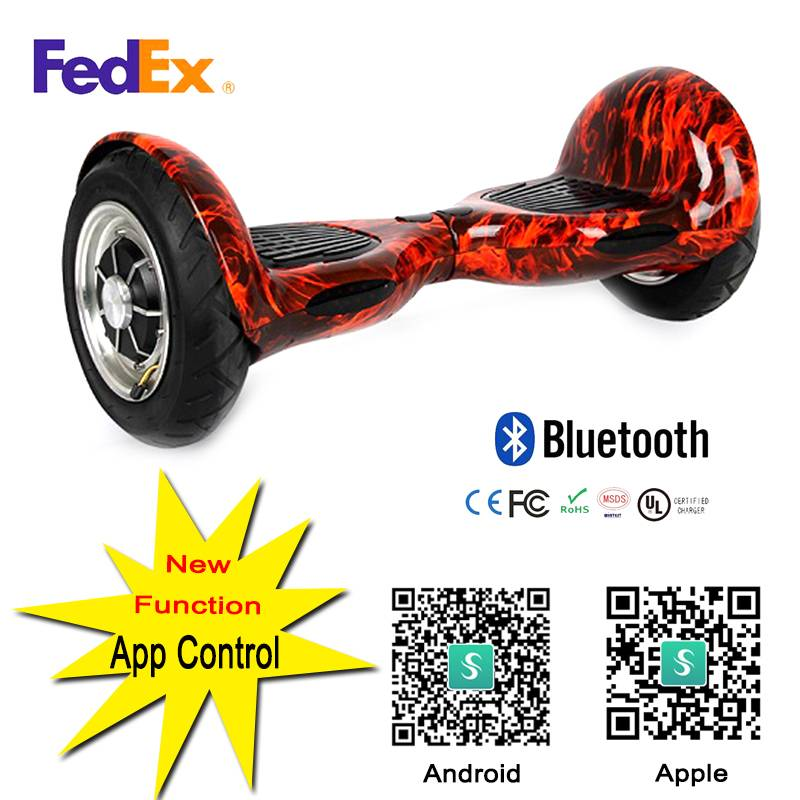 2016 cheaper 10''Bluetooth speaker smart two Wheel self balance Electric Scooter hovervboard LED shi