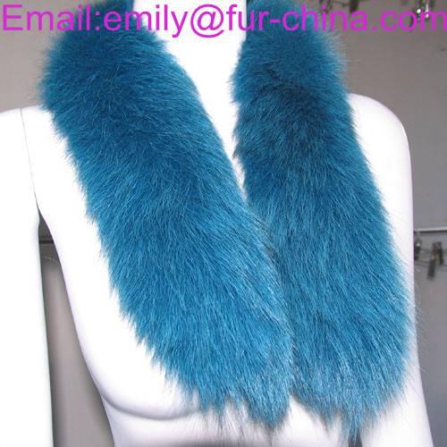 Dyed Color Top Quality Fox Fur Big Size Real Fox Fur Collar