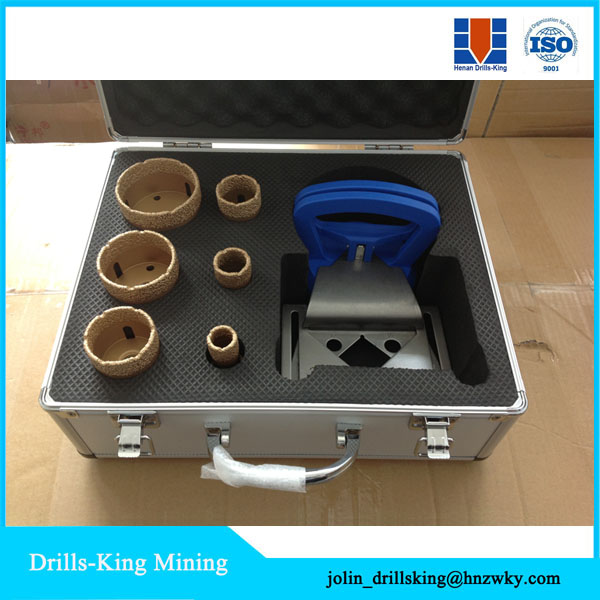 Vacuum brazed diamond tools cutting bit / tiles diamond core drills / diamond hole saws boring bit s