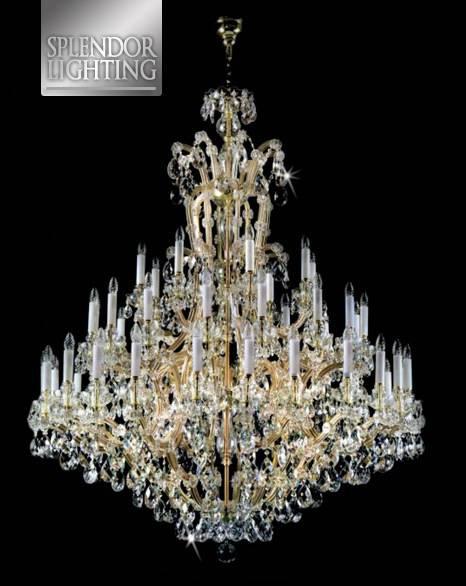 40-Light Maria Teresa Crystal Chandelier For Ballrooms