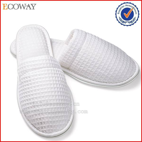 3-5star eva promotional eco-friendly waffle hotel slippers