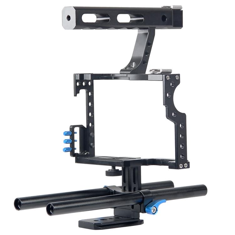 YELANGU Ergonomic Top Handgrip DSLR Rod Rig Camera Video Cage For GH4,A7S