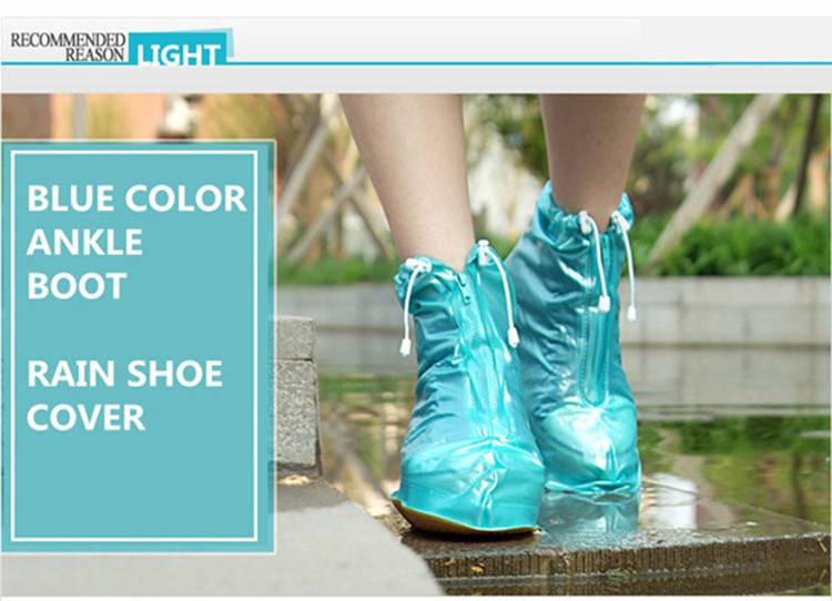 Magic Fashion PVC Rain Shoe Cover Ankle Boot