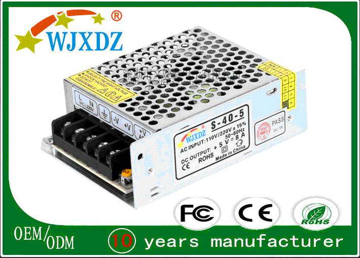 High Efficiency 5V LED Switching Power Supply 25W  No-Waterproof For Screen
