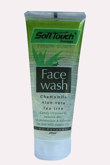 Soft Touch Face Wash (Chamomile,Aloe Vera,Tea tree)(Transparent)